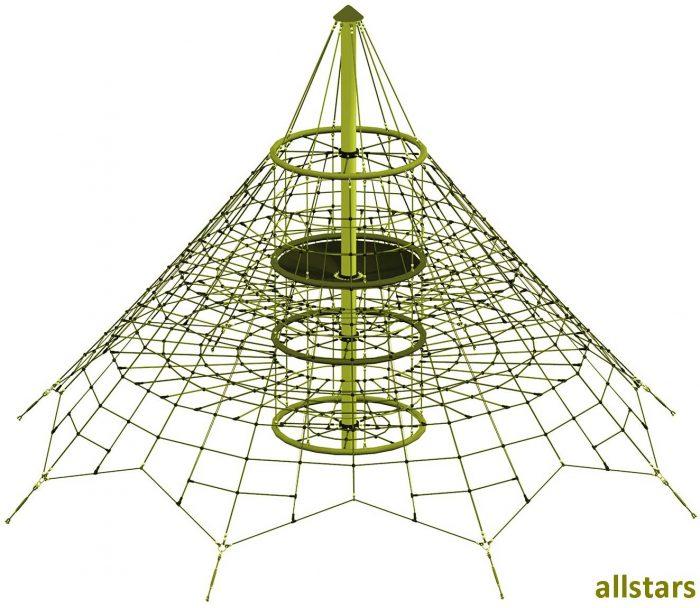 Seilnetz-Pyramide