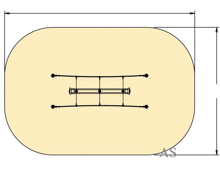 HUCK Mini-Tapenschaukel Fläche