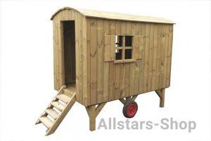 Allstars Spielplatz Bauwagen Spielhaus aus Holz