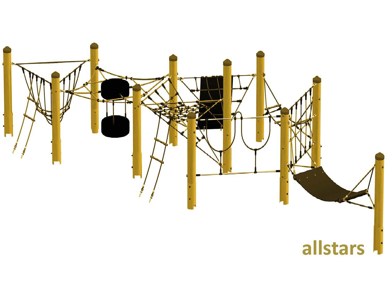 huck wichtelwald version 1 mini parcours mit stahlpfosten ffentlicher spielplatz allstars. Black Bedroom Furniture Sets. Home Design Ideas