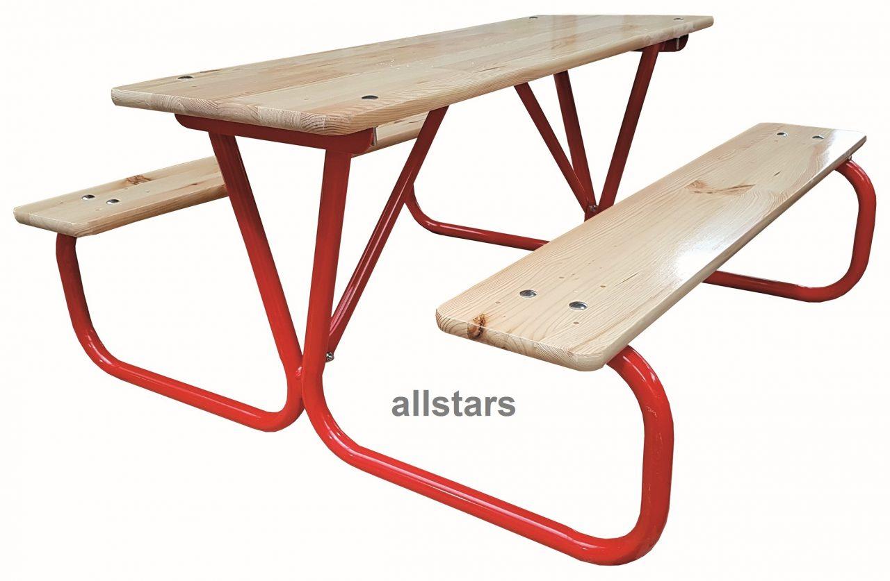 Allstars Kinderpicknick Garnitur Kindersitzgruppe Sitzgruppe 2 Bänke ...