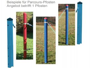 Huck Fun-Parcours Standpfosten Stahl