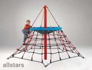 HUCK Seilnetz-Pyramide Dino Mini