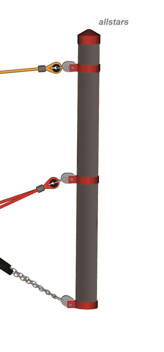 HUCK Standpfosten Stahl für Seilparcours Haiger