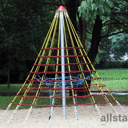 HUCK Cheops-Pyramide Mini Seilnetz-Pyramide Kletterpyramide Kletterturm