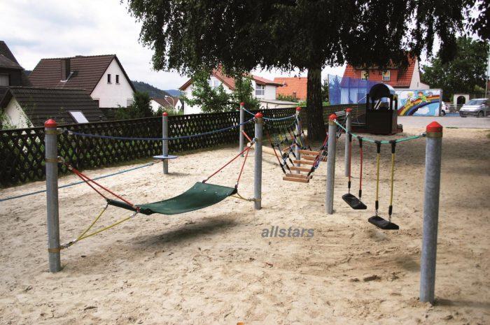 HUCK Adventure Parcours Dillenburg mit Stahlpfosten