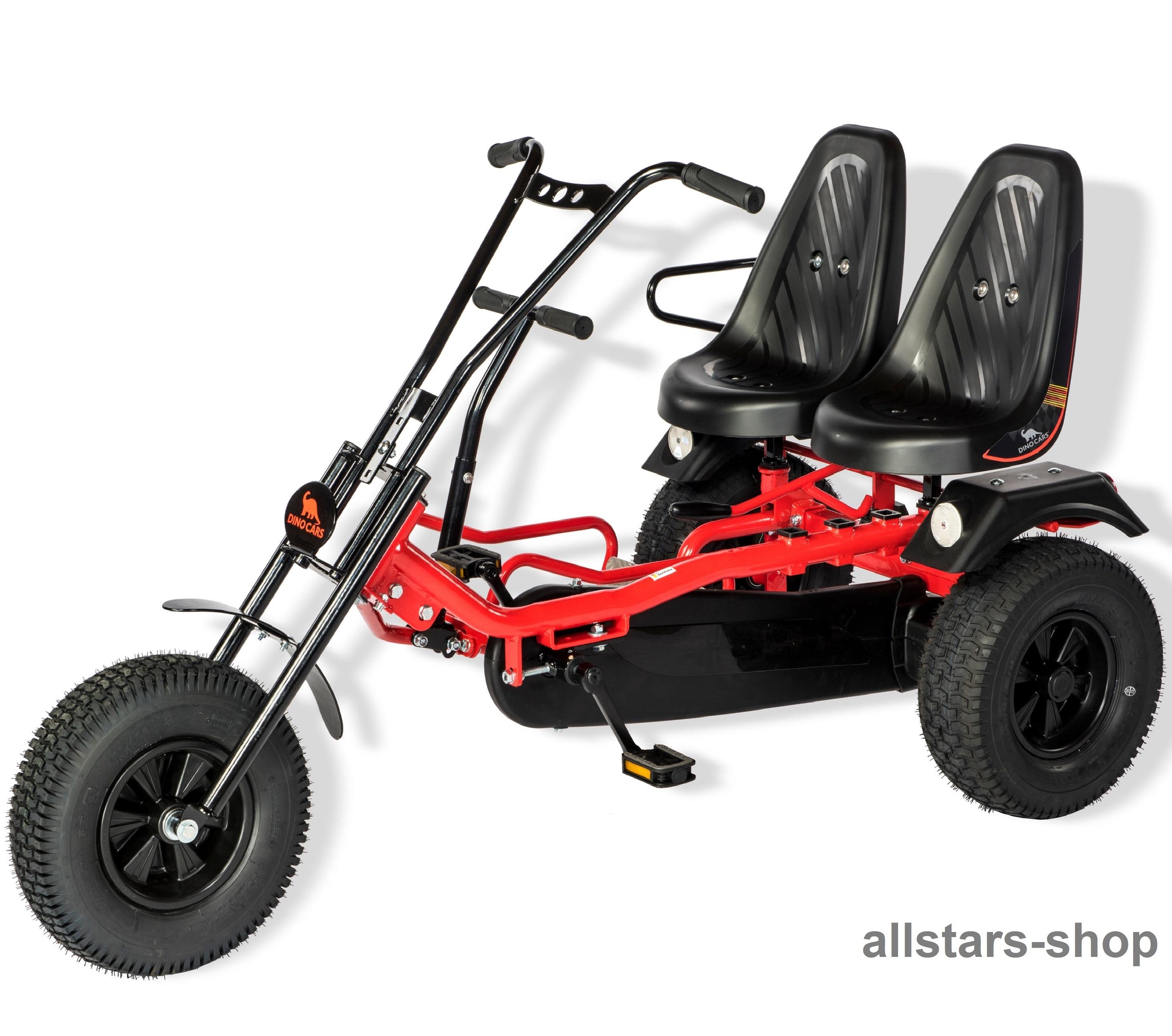 dino cars 2 rider doppelsitzer dreiradwagen gocart 2 sitze. Black Bedroom Furniture Sets. Home Design Ideas