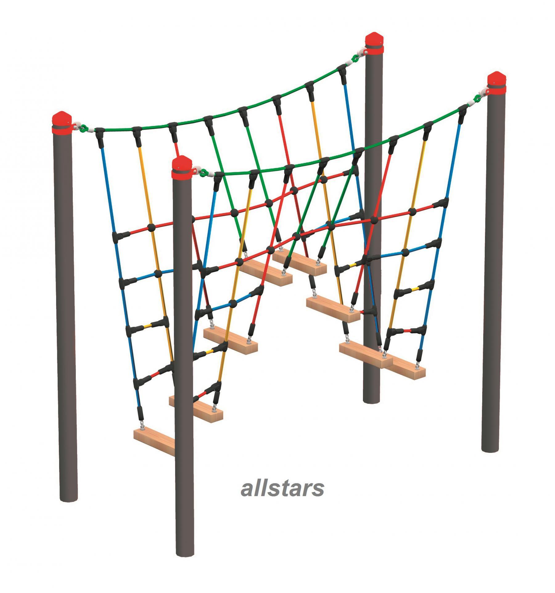 huck vario element 12 kletterbr cke f r stahlpfosten ffentlicher spielplatz kletternetz. Black Bedroom Furniture Sets. Home Design Ideas