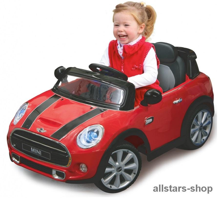 jamara kinder auto elektroauto mini cooper ride on car mit. Black Bedroom Furniture Sets. Home Design Ideas