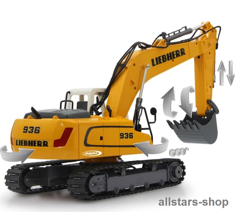 Jamara Bagger Liebherr Excavator R 936 Destruction Set 05 M Riesen Sandbagger