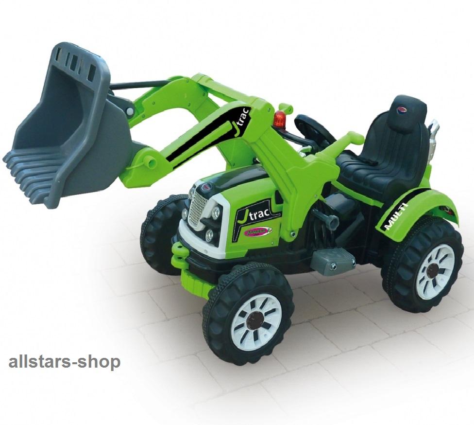 jamara kinder auto ride on traktor mit e motor bagger. Black Bedroom Furniture Sets. Home Design Ideas