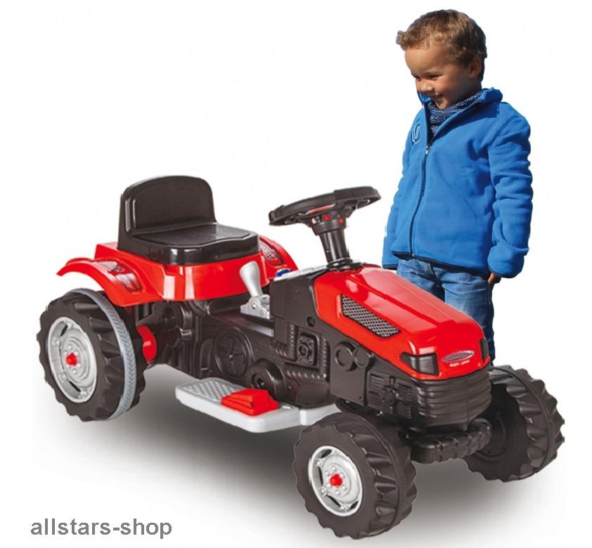jamara kindertraktor ride on traktor mit elektromotor trecker elektro tractor rot spiel und. Black Bedroom Furniture Sets. Home Design Ideas