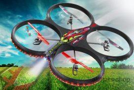 Flyscout AHP+ Quadrocopter Komp-LED-Kamera