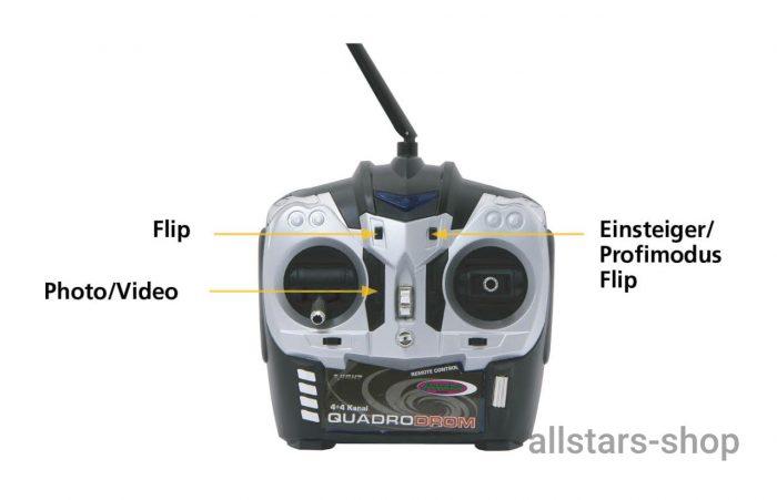 Jamara Quadrodrom Quadrocopter HD, Kompass, Flip, 2,4G