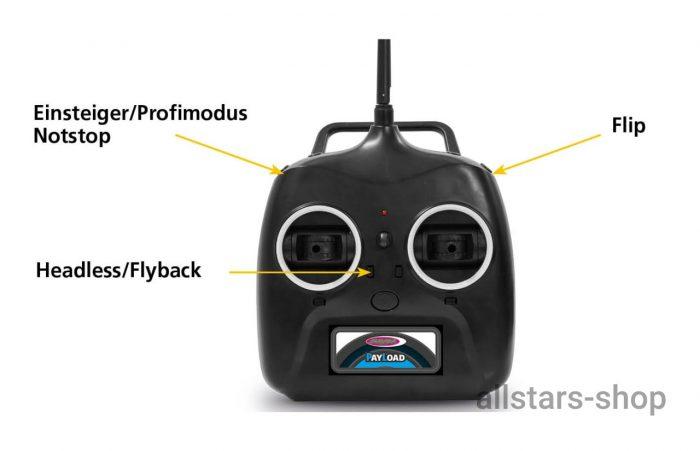 Jamara Payload Altitude Drone Full HD Wifi Kompass Flyback