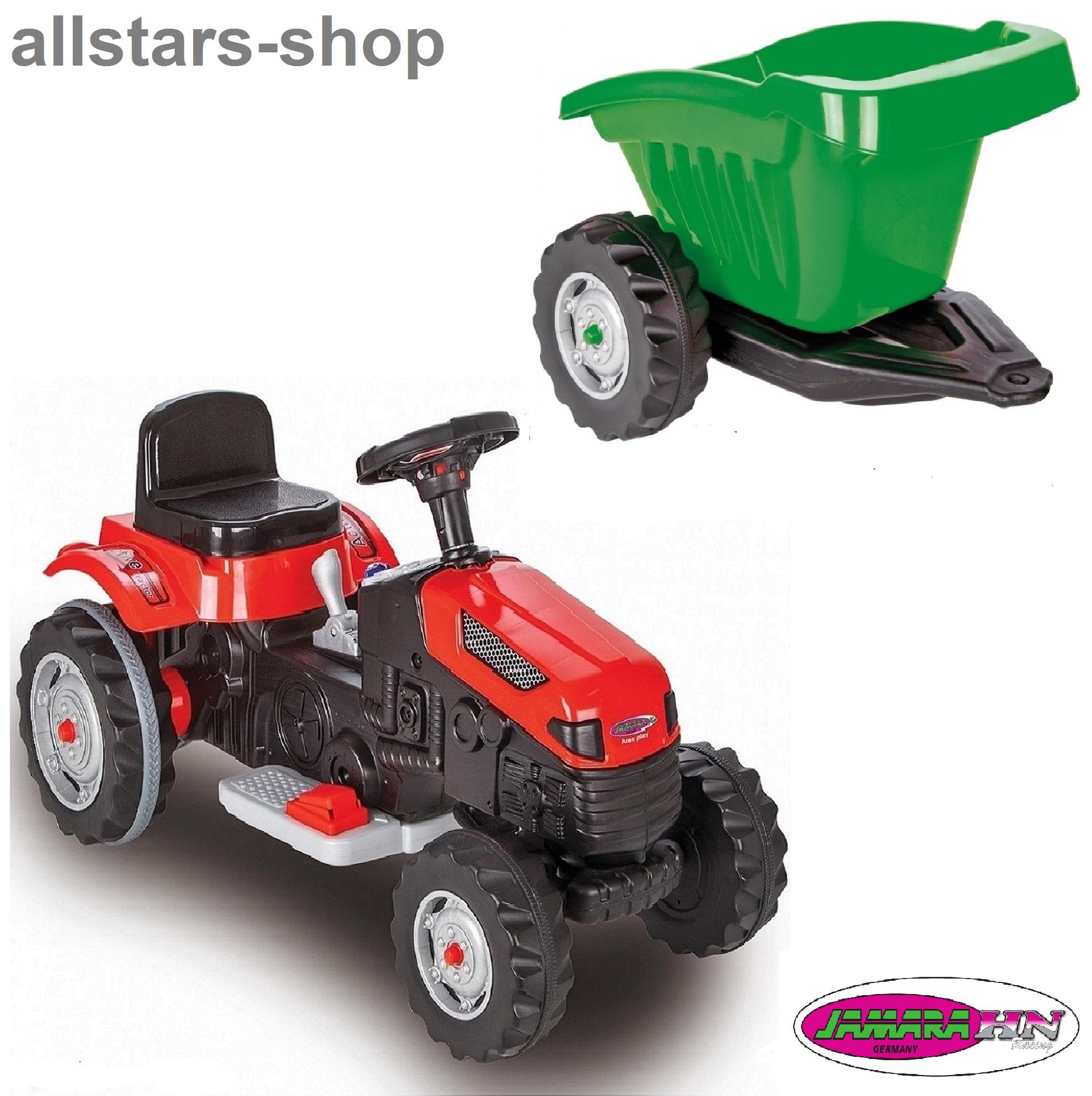 jamara kinder auto ride on traktor mit elektromotor. Black Bedroom Furniture Sets. Home Design Ideas