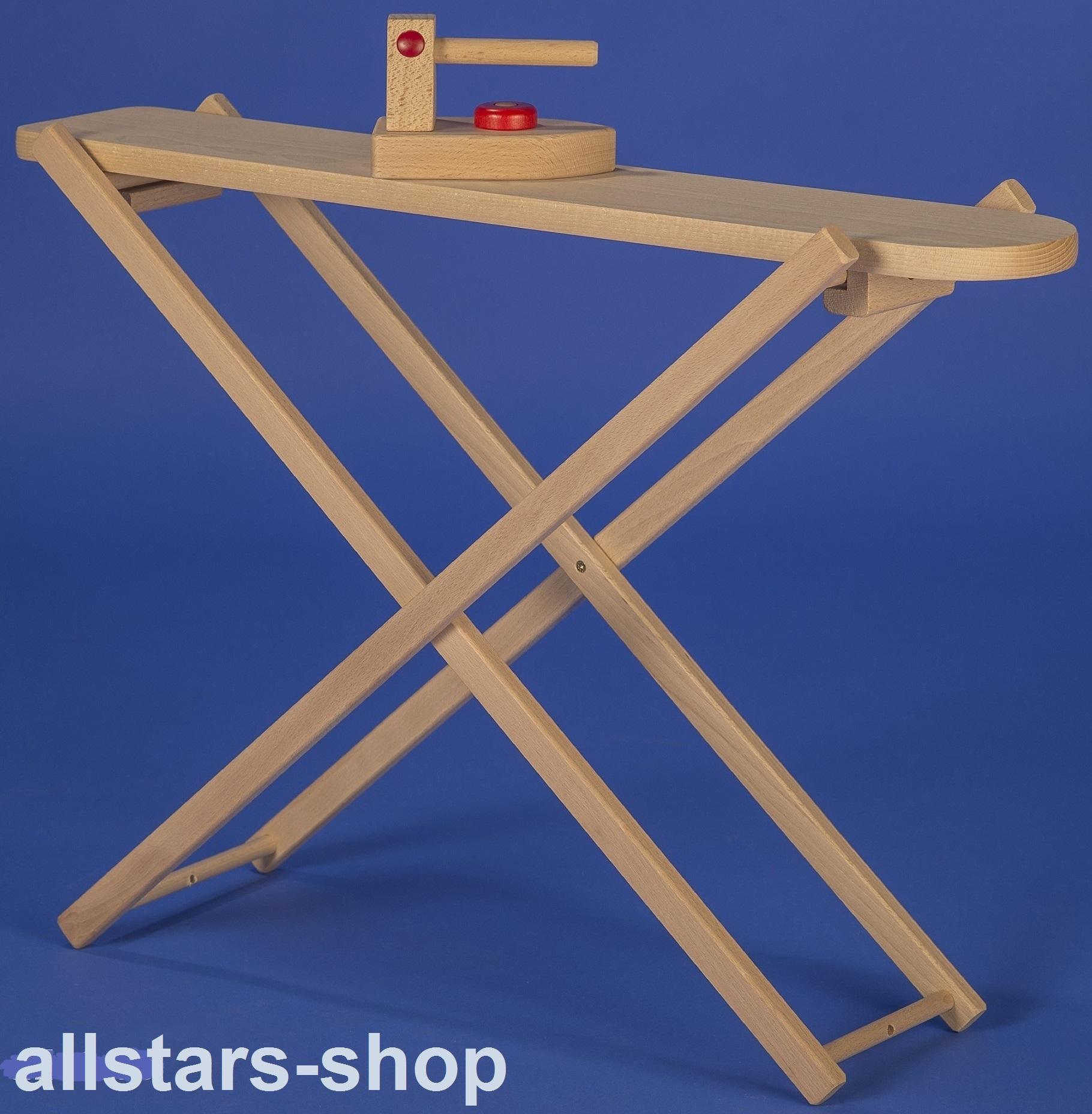 Nieuw Allstars großes Kinder-Bügelbrett mit Bügeleisen aus Holz AQ-02
