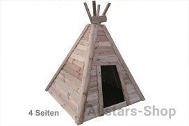 Allstars Indianerzelt aus Holz 4 Wände