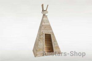 """Holz-Spielhaus """"Indianerzelt Kleiner Büffel"""""""