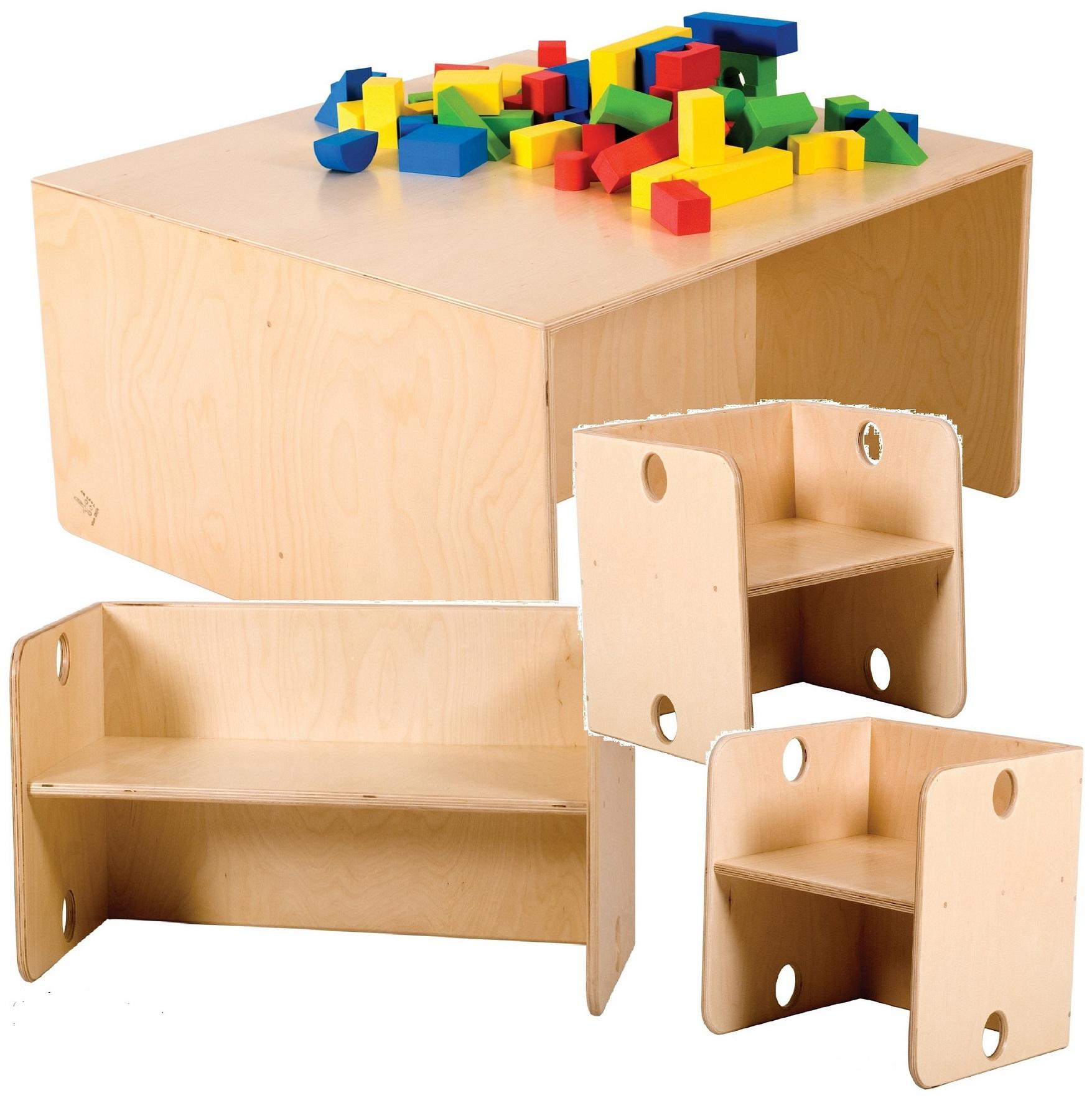 allstars tisch kindertisch bank 2 st hle m bel set zur. Black Bedroom Furniture Sets. Home Design Ideas