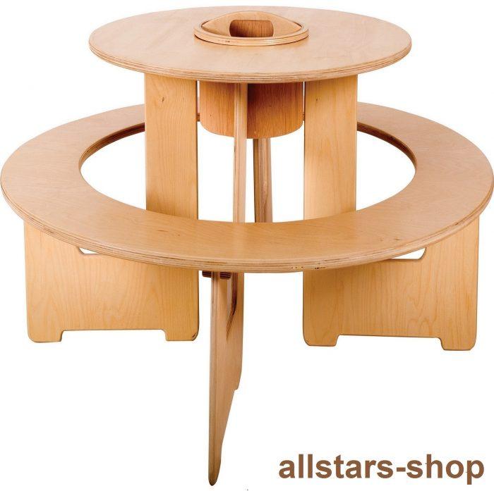 Allstars Kindermöbel Runde Sitzgruppe Tisch Bank 2