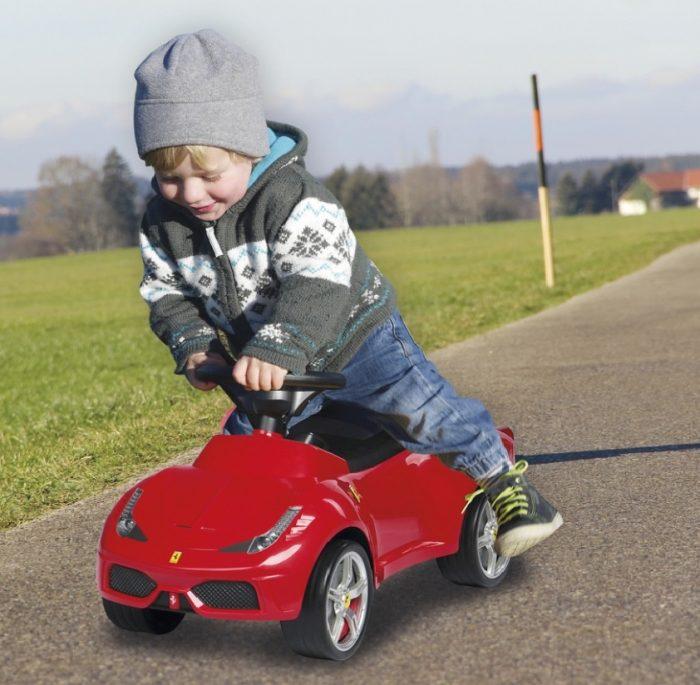 ferrari kinder auto rutscher lauflernwagen rutschauto rot f r kindergarten von jamara allstars. Black Bedroom Furniture Sets. Home Design Ideas
