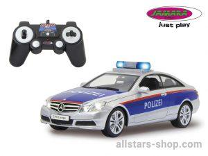 Jamara Mercedes-Benz E350 Coupe Polizei silber/rot 1:16
