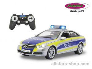 Jamara Mercedes-Benz E350 Coupe Polizei silber/gelb