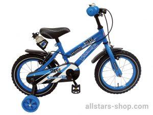 Dino Wheels Super Kinderfahrrad Blau 14 Zoll mit 2 Felgenbremsen