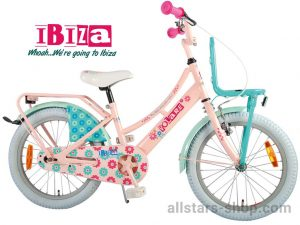 Dino Wheels Bikes Ibiza Mädchenfahrrad 18 Zoll - rosa/türkis