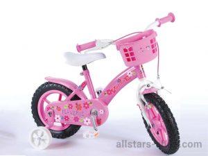 """Dino Wheels Bikes 12"""" Kinderfahrrad """"Flowerie"""" für Mädchen pink"""