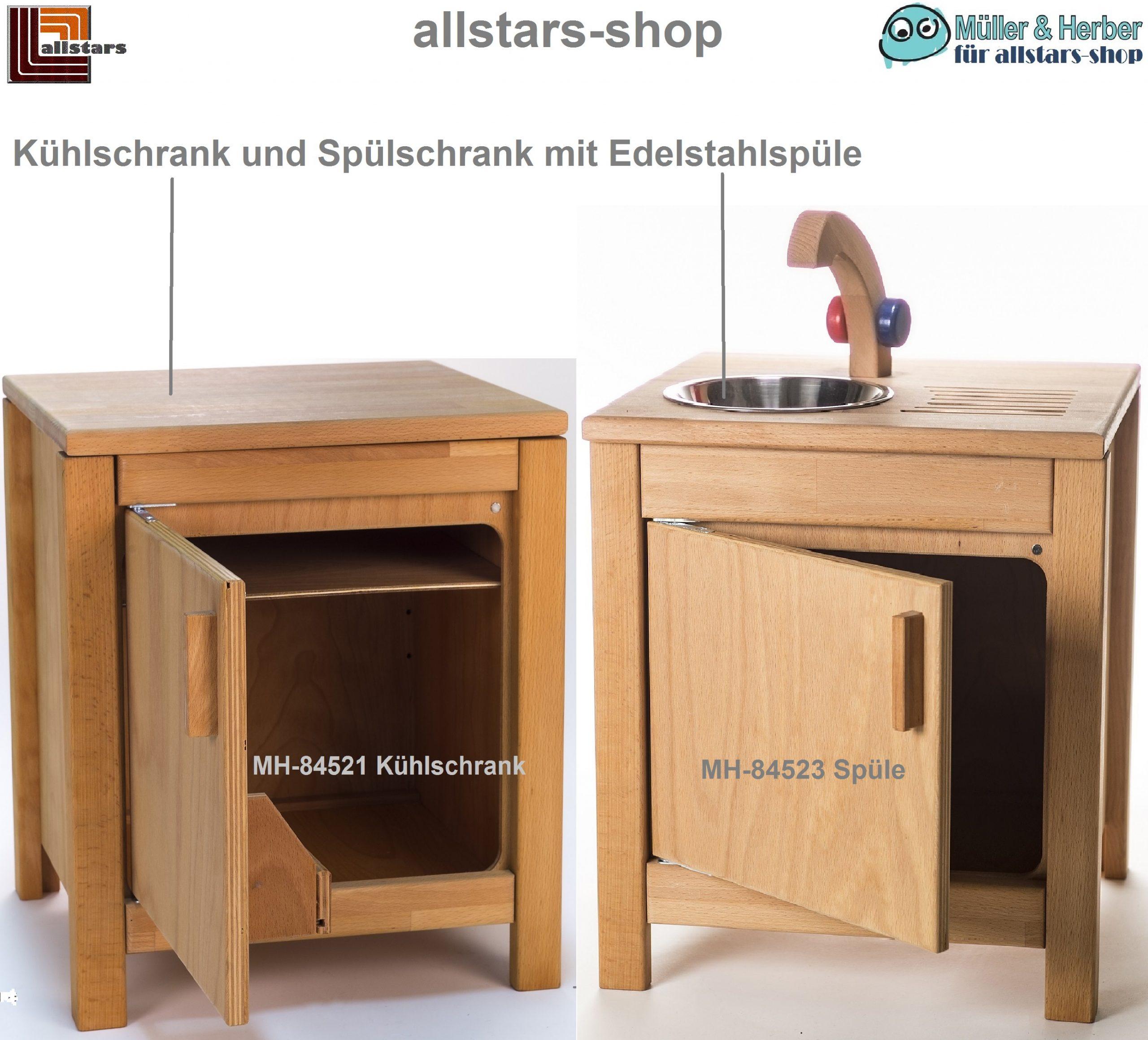 Allstars Kinderkuche Puppen Kuhlschrank Und V2a Spule Mit Unterschrank H 45 5 Cm Spiel Und Sportgerate Fur Kindergarten Und Kommunen Allstars Shop