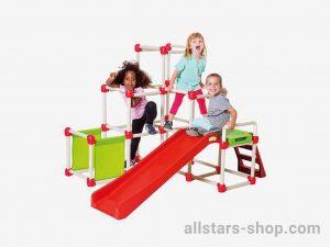 Allstars Portables Klettergerüst mit Rutsche und Treppe