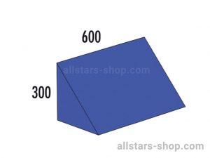 Baenfer Bausteinsatz Dreieck 300x300x600 blau