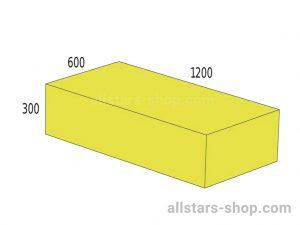 Baenfer Bausteinsatz Quader 1200x600x300 gelb