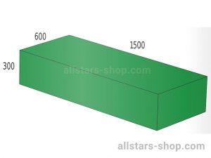 Baenfer Bausteinsatz Quader 1500x600x300 gruen