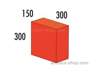 Baenfer Bausteinsatz Quader 300x300x150 rot