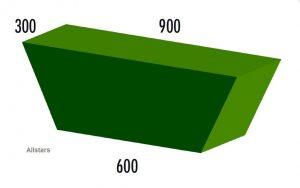 Bänfer Softbaustein Trapezelement grün