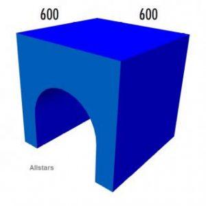 Bänfer Softbaustein Tunnel blau