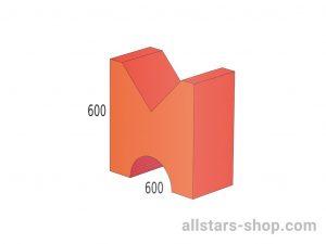 Baenfer Doppelbruecke rot/orange 600x600x300mm