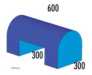 Bänfer Halbovalbrücke blau 600x300x300