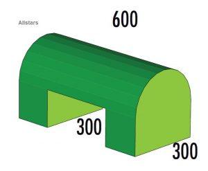 Bänfer Halbovalbrücke grün 600x300x300